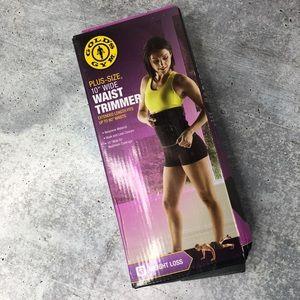 "Gold's Gym Plus Size Waist Trimmer Neoprene 10""W"